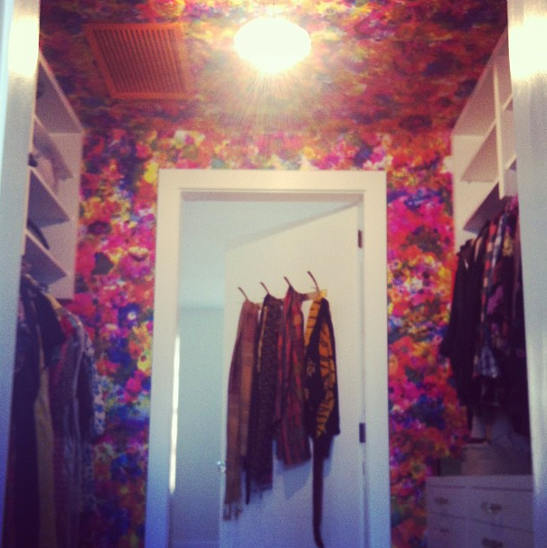 Full Bloom by Flat Vernacular, installed in closet