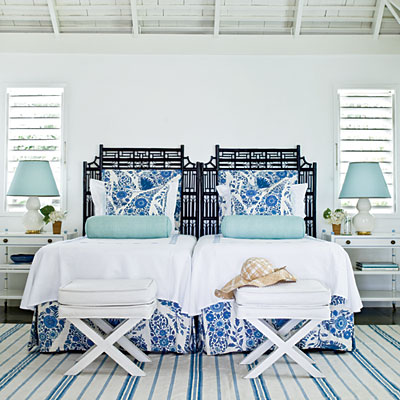 Master Bedroom by Meg Braff, Round Hill Resort, photo: J. Savage Gibson, Coastal Living