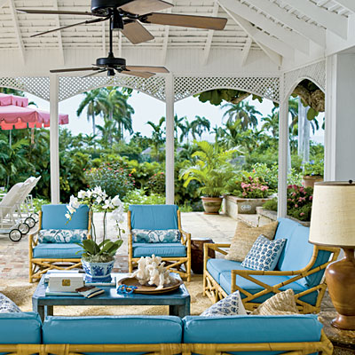 Porch by Meg Braff, Round Hill Resort, photo: J. Savage Gibson, Coastal Living