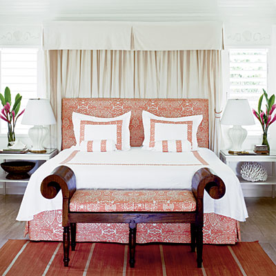 Bedroom by Meg Braff, Round Hill Resort, photo: J. Savage Gibson, Coastal Living