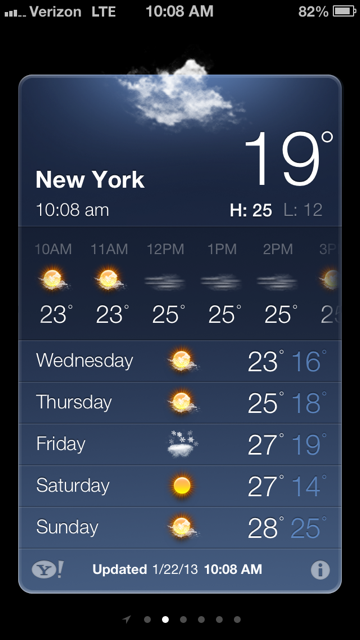 NYC weather