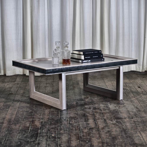 Coffee Table no. Fifty Nine, in Silver (55% OFF) Retail Price: $4,415 / Sale Price: $1,987