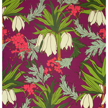 Friti Plum Wallpaper by Abigail Borg